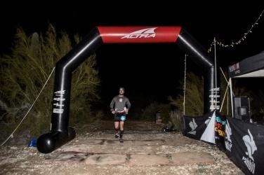Crossing the finish line. Credit: Aravaipa Running